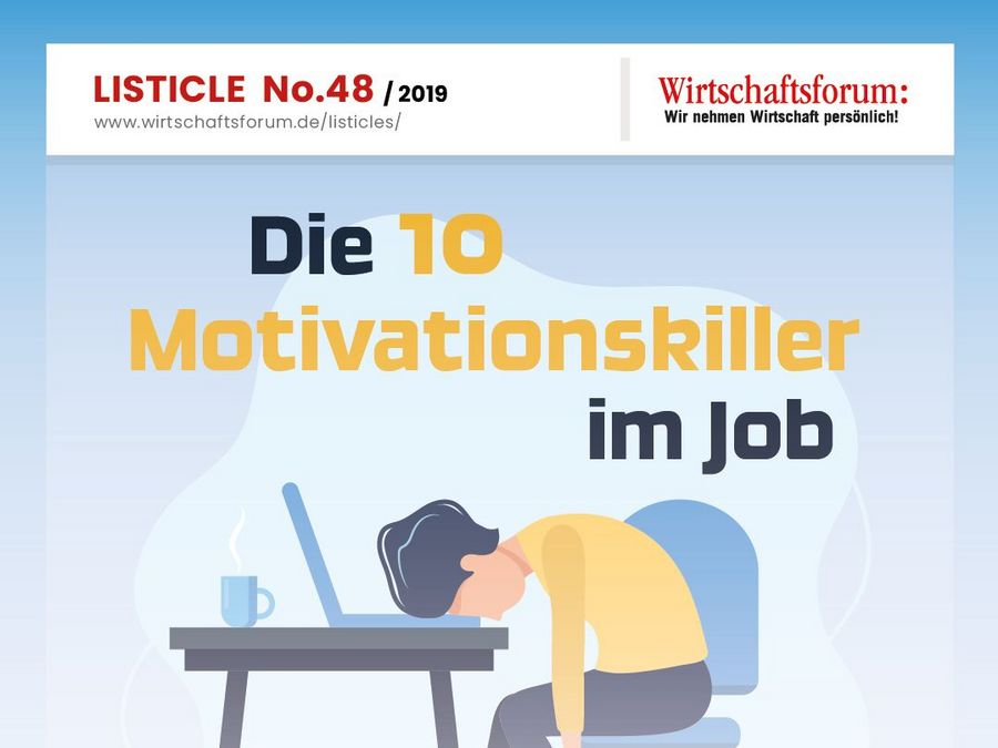 Die 10 Motivationskiller im Job