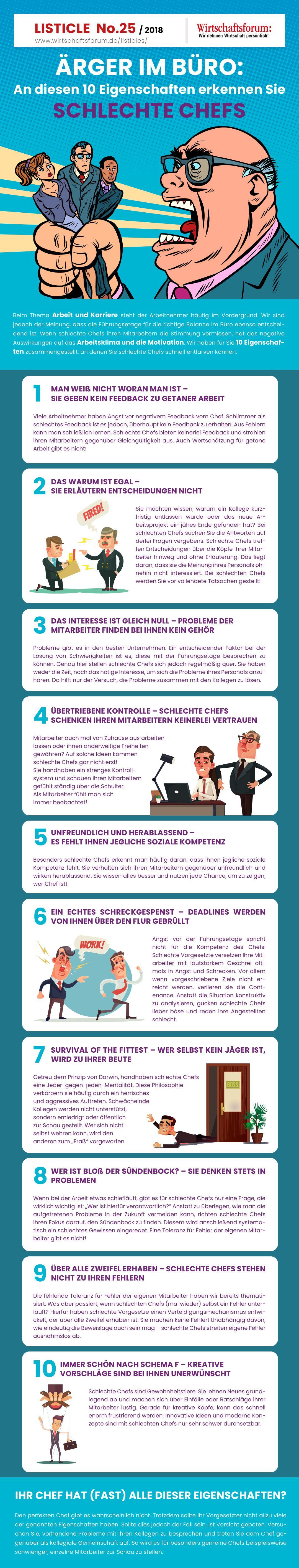 An Diesen 10 Eigenschaften Erkennen Sie Schlechte Chefs