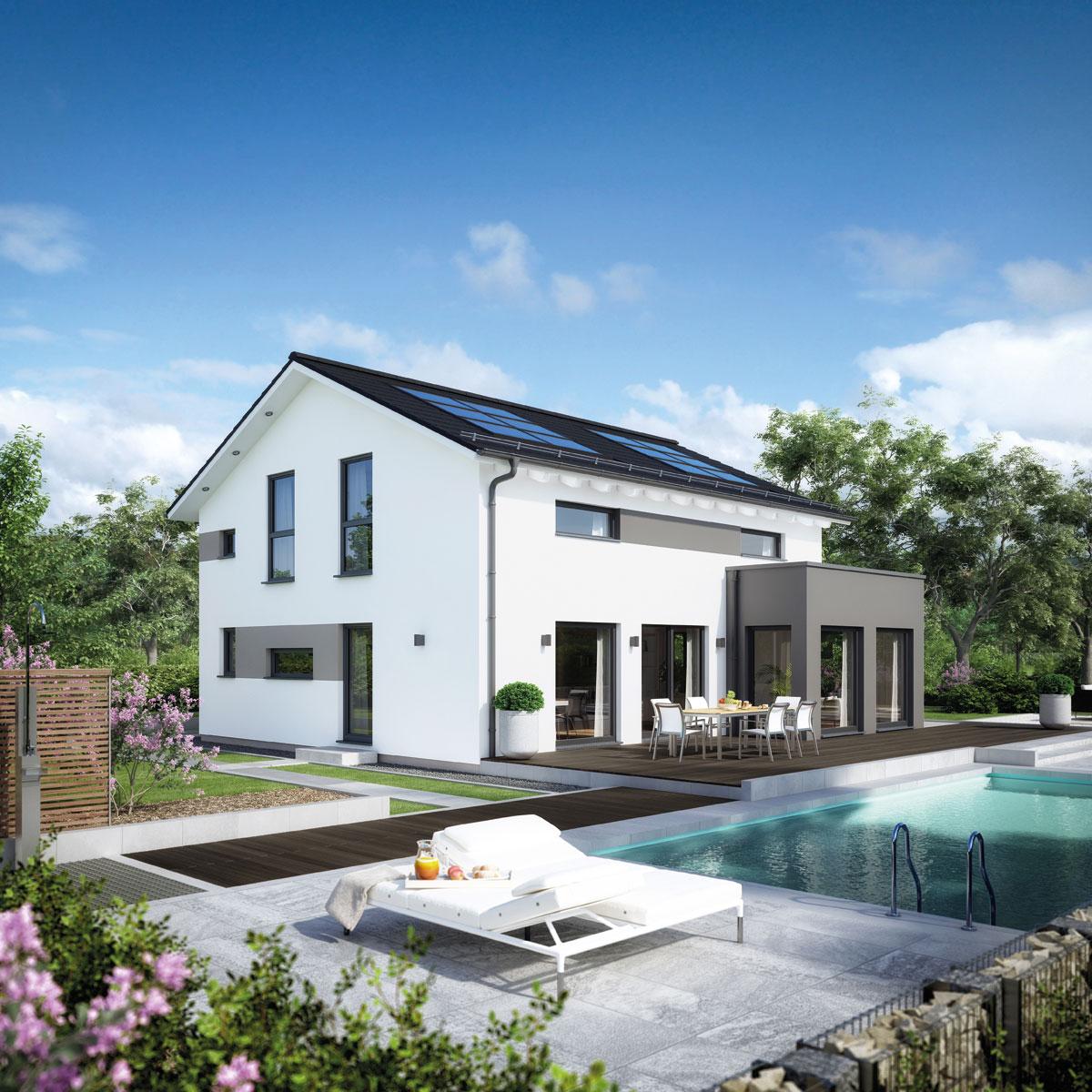 Musterhaus Ulm In Energieeffizienter Kompaktbauweise Und Mit Eigenem  Swimmingpool